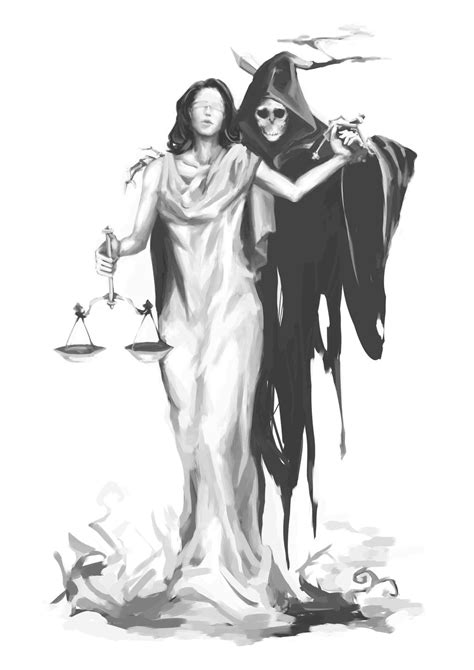 lady justice and the reaper by calciumandsugar on deviantart