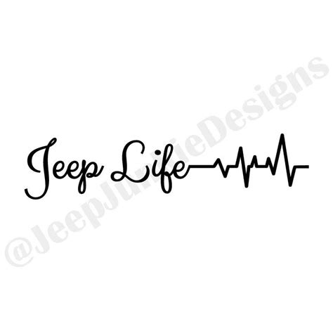 jeep heartbeat jeep heartbeat vinyl sticker jeep sticker jeep decal