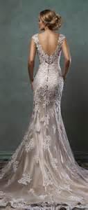Amelia sposa 2016 lace wedding dresses with low back alba