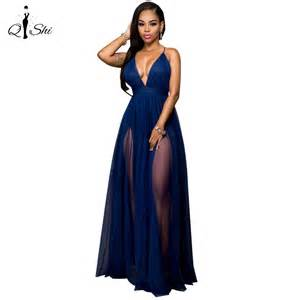 sexi maxi dress 2016 summer women maxi dress blue mesh