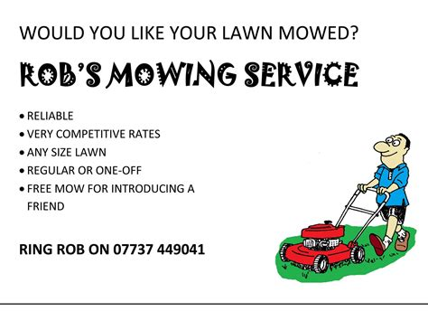 Mowing Flyer Template lawn mowing service flyer template