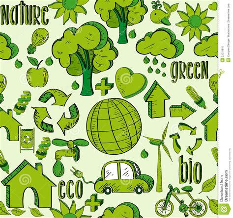 pattern of energy flow in the environment green environment icons pattern royalty free stock image