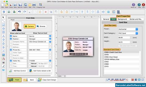 id card designer for mac design and print multiple id visitors id cards maker for mac screenshots to know how to