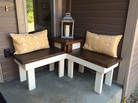 patio corner bench remodelaholic build a corner bench with built in table