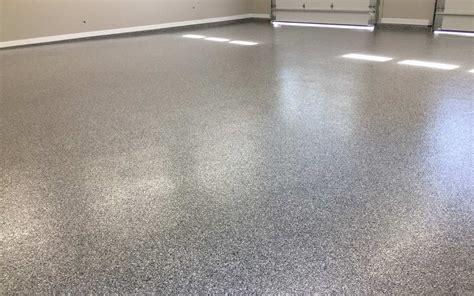 Garage Floor Coating Double Broadcast Random Flakes