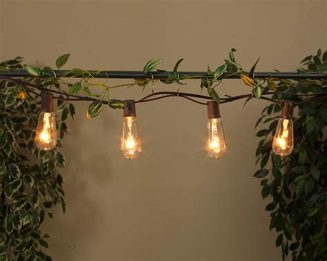 Cafe Patio Lights Patio Cafe String Lights 10ft 10ct St40 Clear Bulbs Brown Cord