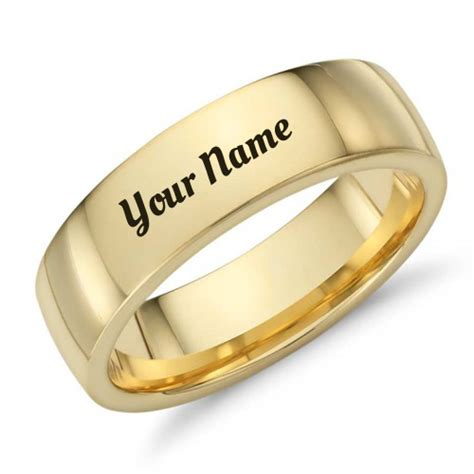 Wedding Ring Name by Gold Band Mens Wedding Ring With Your Name