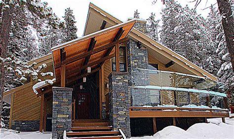 modern mountain alpine home design  includes  steep