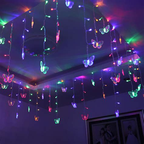 Butterfly Lights For Bedroom 3 5m 96leds Colorful Curtain Butterfly String Light With Eu Us For Ac110v 220v