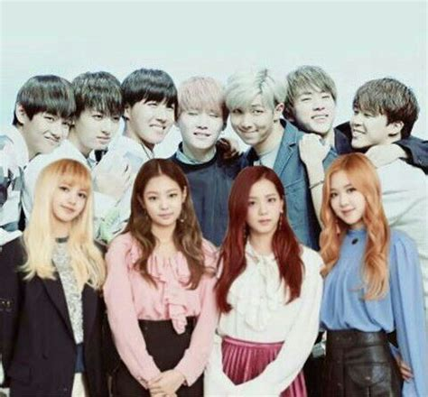 blackpink dan bts bts collaboration blackpink 블랙핑크 amino