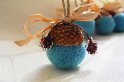 acorn ornaments felt acorns christmas tree ornament
