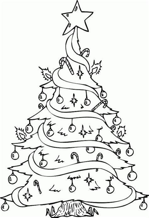 christmas tree and presents coloring page free printable christmas tree coloring pages for kids