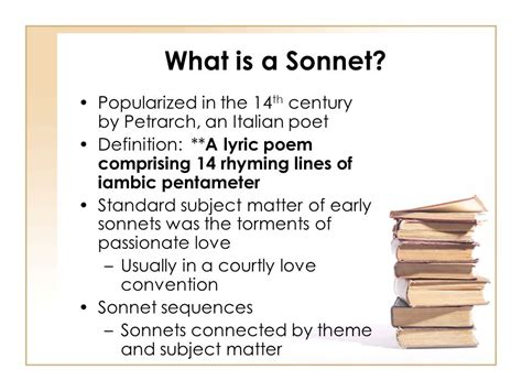 theme line definition the sonnet ppt video online download