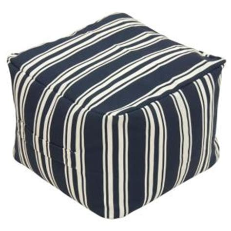 Nautical Storage Ottoman Hton Bay Nautical Stripe Square Outdoor Pouf Ottoman 7588 01005900 The Home Depot