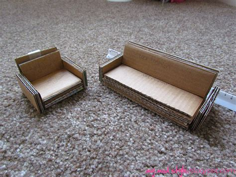 how to make miniature sofa my dollhouse cardboard furniture flickr photo sharing