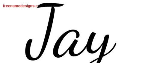 tattoo name jay lively script name tattoo designs jay free printout free