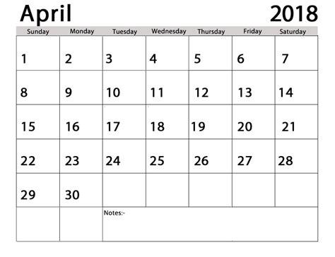 april calendar template april 2018 calendar template calendar template excel