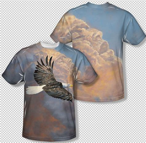 Above Beyond 7 T Shirt Size Xl bald eagle majestic soaring above the clouds all print youth t shirt top youth sizes s m