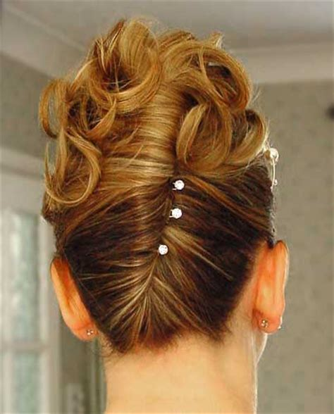 hair style with fench roll and pin curls elegant wedding hairstyles ideas