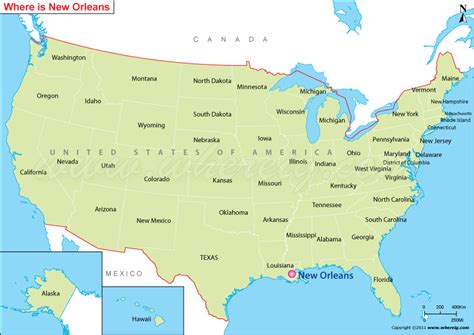 usa map states new orleans usa karte new orleans my
