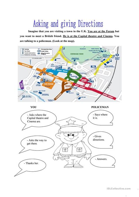 printable activities about giving directions ask and give directions worksheet free esl printable