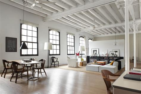 loft interior design modern industrial white loft in barcelona