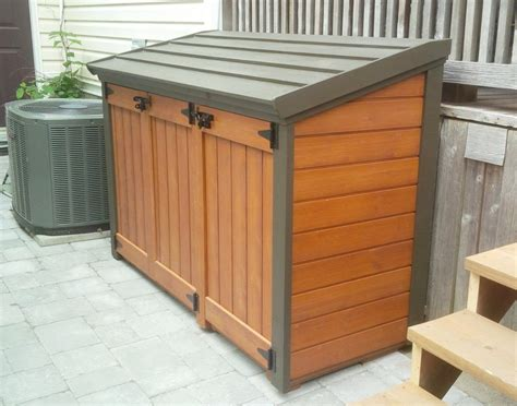 trash can cabinet outdoor outdoor trash can storage shed trash can storage cabinet