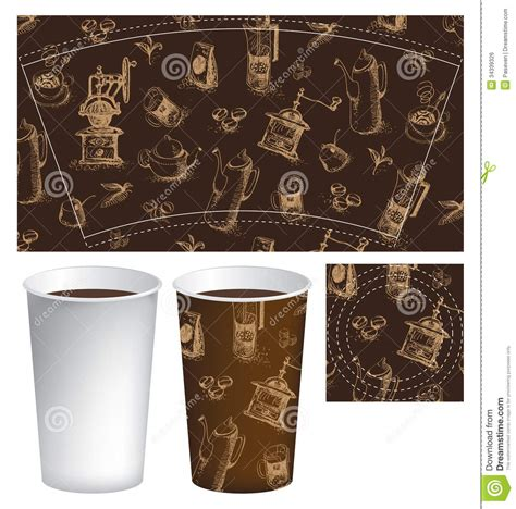 Cup For Coffee Royalty Free Stock Image   Image: 34339326