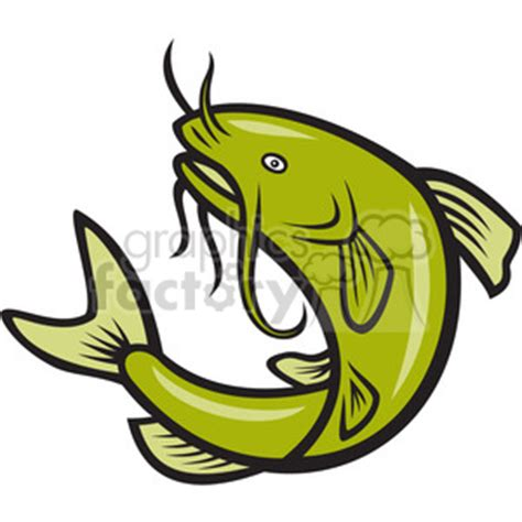 jump mp royalty free catfish jump mp 388149 vector clip art image