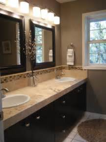 modern rustic bathroom in greige beige and brown ls