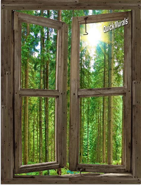 window wall murals country cabin window wall mural