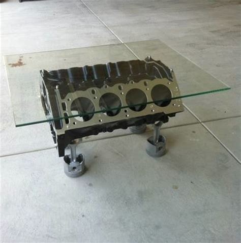 Engine Block Coffee Table V8 Engine Block Coffee Table Slick