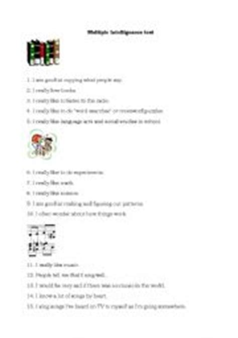 printable iq test for elementary students multiple intelligence test for elementary students 1000
