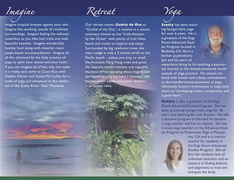 Staging A Bedroom costa rica yoga retreat brochure design jules kobelin
