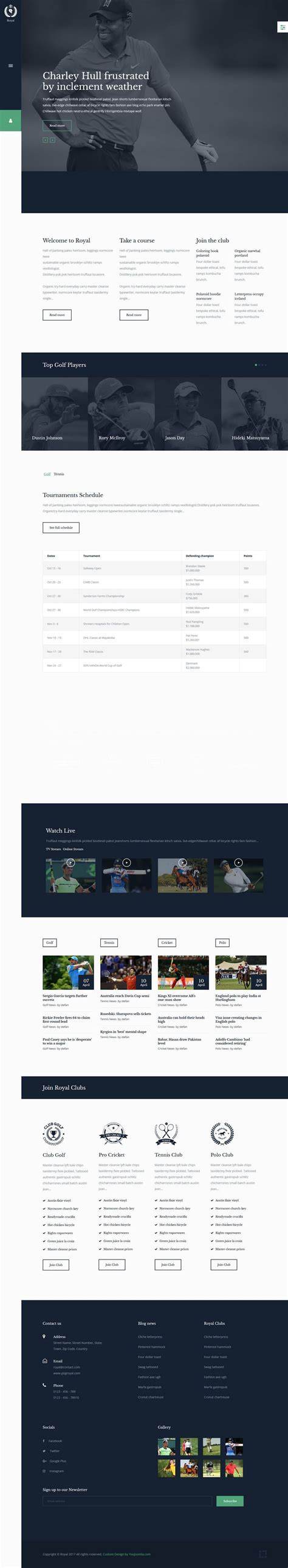 royal sports joomla template by you joomla