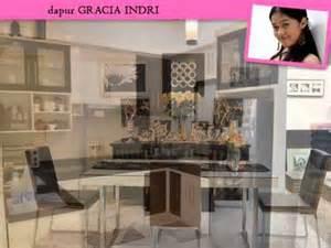 desain interior rumah gracia indri inspirasi 12 dapur kitchen set artis indonesia 2015