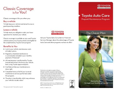 Www Toyota Financial Services Toyota Auto Care Prepaid Car Maintenance Program By Toyota