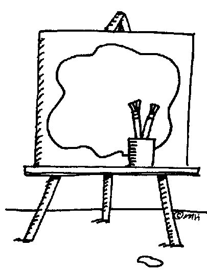 art easel coloring page easel with drawing clip art gallery clipart best