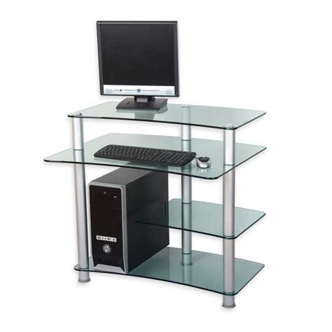bureau ordinateur verre bureau pour ordinateur en verre clair