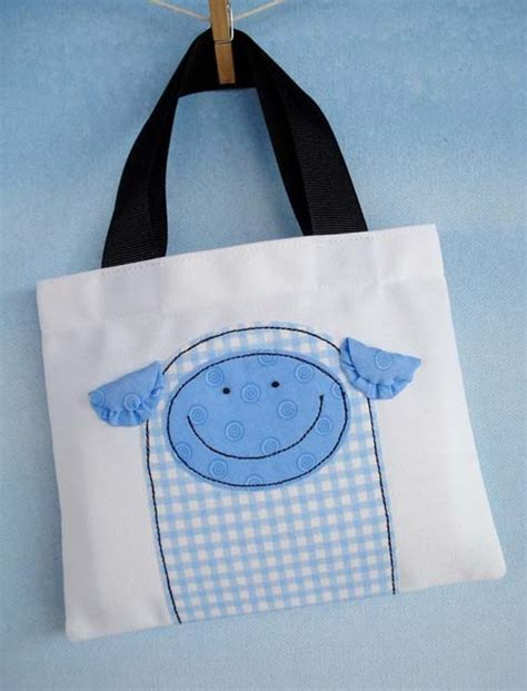 pattern for mini tote bag sew baby mini tote bags with critter appliques e pattern