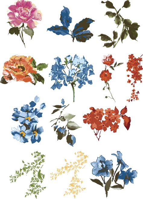 Floral Design by Vintage Floral Design Elements Vector Collection Free