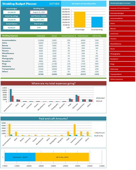 excel wedding planner wedding planner digital excel file to