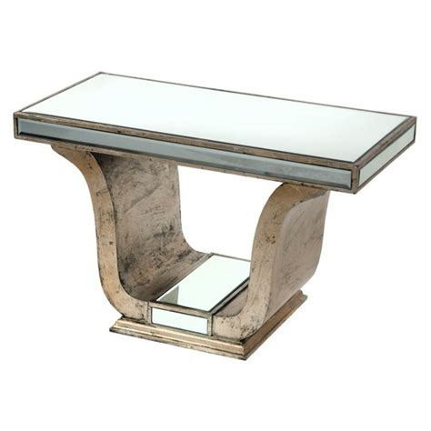 Venetian Console Table with Venetian Antique Mirrored Silver Glass Console Table Free Delivery Coco54