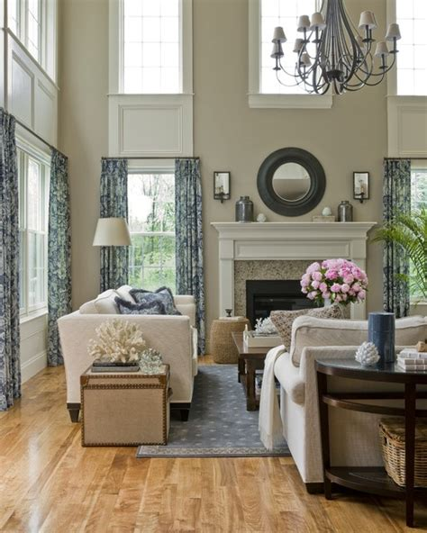 Two Story Living Room Decorating Ideas cathedral living room traditional living room boston