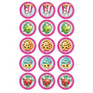 shopkins edible icing cupcake toppers x 15 kids themed
