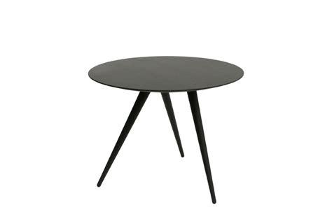 beistelltisch schwarz rund runder designer beistelltisch turn high maigrau