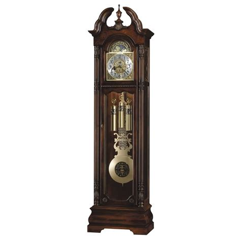 grandfather clock howard miller ramsey floor clock cherry 611084 grandfather
