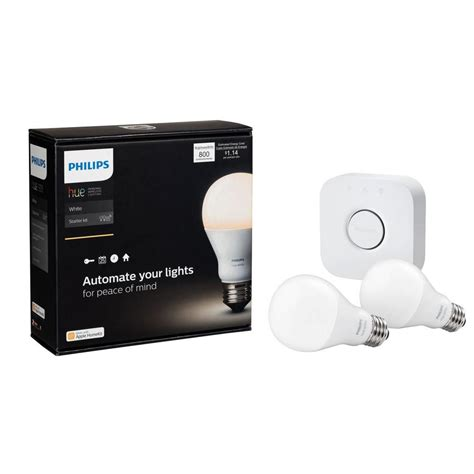 philips a19 led light bulb philips hue white 60w equivalent soft white 2700k a19