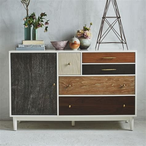West Elm Patchwork - bedroom decor ideas 50 inspirational chests of drawers