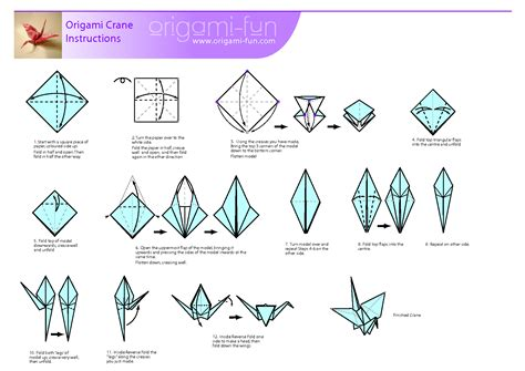 How To Make An Origami Swan Step By Step - image gallery origami crane pdf